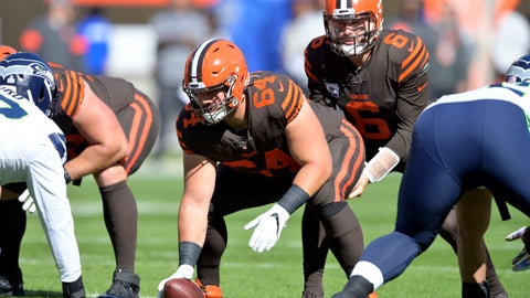 <p>               FILE - In this Oct. 13, 2019, file photo, Cleveland Browns center JC Tretter (64) lines up during an NFL football game against the Seattle Seahawks, in Cleveland. A person familiar with the negotiations says Browns' Tretter has agreed to terms on a three-year, $32.5 million contract extension with the club. Tretter, who is in his third season with the team, will receive $23 million guaranteed, said the person who spoke on condition of anonymity because the deal has not been finalized. An announcement could come Friday, Nov. 8, 2019, the person said. (AP Photo/David Richard, File)             </p>