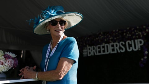<p>               Connie Broge arrives for the Breeders' Cup horse races at Santa Anita Park, Friday, Nov. 1, 2019, in Arcadia, Calif. (AP Photo/Gregory Bull)             </p>