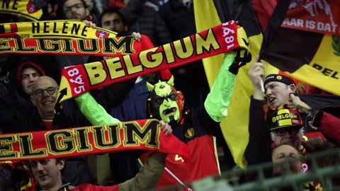 <p>               Belgium supporters celebrate at the end of the Euro 2020 group I qualifying soccer match between Belgium and Cyprus at the King Baudouin stadium in Brussels, Tuesday, Nov. 19, 2019. Belgium won 6-1. (AP Photo/Francisco Seco)             </p>