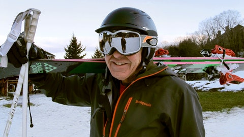 <p>               In this Nov. 26, 2019, photo skier Biff Stulgis stands at the base of Sugarbush Resort in Warren, Vt. Stulgis said he started wearing a helmet about 15 years ago after he hit a tree. A study of ski injuries in New Hampshire and Vermont over an eight-year period found that skiers wearing helmets were less likely to have skull fractures, but were more likely to suffer severe injuries including bleeding in the brain. (AP Photo/Lisa Rathke)             </p>