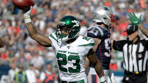 <p>               FILE - In this Sept. 22, 2019 file photo, New York Jets cornerback Arthur Maulet celebrates after he recovered a fumble for a touchdown against the New England Patriots in the second half of an NFL football game in Foxborough, Mass.  Maulet has started the last three games and played well while solidifying what had been a weakness on the team. Maulet overcame several hardships while growing up in New Orleans. He also didn't start playing football until his junior year of high school. Maulet says he is motivated by family and proving those who support him right. He also believes he has plenty more to accomplish in life.(AP Photo/Steven Senne, File)             </p>
