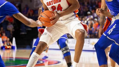 <p>               Florida forward Kerry Blackshear Jr. (24) drives to the basket against Lynn during the second half of an NCAA college basketball exhibition game Tuesday, Oct. 29, 2019, in Gainesville, Fla. (AP Photo/Matt Stamey)             </p>