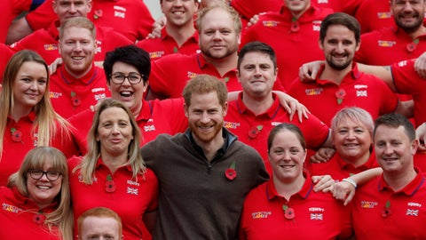 <p>               Britain's Prince Harry poses for a photo during the launch of the team selected to represent the UK at the Invictus Games The Hague 2020, in London, Tuesday, Oct. 29, 2019. (AP Photo/Frank Augstein)             </p>