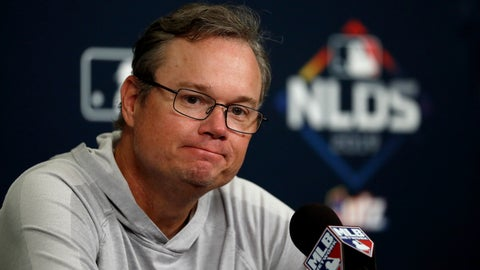 <p>               FILE - In this Oct. 5, 2019 file photo St. Louis Cardinals manager Mike Shildt listens to a question during a news conference at the baseball National League Division Series in St. Louis. Shildt has been given a new three-year contract through the 2022 season. Shildt was hired in 2018 and his initial deal ran through 2020. (AP Photo/Jeff Roberson, file)             </p>