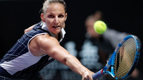 <p>               In this Saturday, Nov. 2, 2019 file photo, Karolina Pliskova of the Czech Republic hits a return shot against Ashleigh Barty of Australia during the WTA Finals Tennis Tournament at the Shenzhen Bay Sports Center in Shenzhen, China's Guangdong province. World No. 2 Karolina Pliskova has announced she has hired Daniel Vallverdu as her new coach. (AP Photo/Andy Wong/File)             </p>