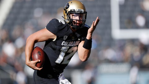 <p>               Colorado quarterback Steven Montez runs for a touchdown against Stanford in the first half of an NCAA college football game, Saturday, Nov. 9, 2019, in Boulder, Colo. (AP Photo/David Zalubowski)             </p>