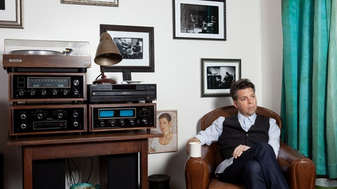 """<p>               This Nov. 8, 2019 photo shows musician Joe Henry posing for a portrait at his home in Pasadena, Calif. to promote his new album """"The Gospel According To Water."""" (Photo by Rebecca Cabage/Invision/AP)             </p>"""