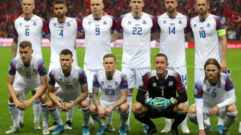 <p>               Players of Iceland team pose for a group photo before the Euro 2020 Group H qualifying soccer match between Turkey and Iceland in Istanbul, Thursday, Nov. 14, 2019. (AP Photo)             </p>