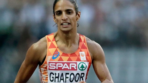 <p>               FILE - In this Thursday, Aug. 9, 2018 file photo, Netherlands' Madiea Ghafoor competes during a woman's 400 meter semi final race at the European Athletics Championships in Berlin, Germany. The Dutch Olympic sprinter Madiea Ghafoor has been sentenced to eight and a half years in prison on drug charges, it was announced Monday, Nov. 4, 2019. The German news agency dpa reports the court in the town of Kleve found Ghafoor knowingly imported around 50 kilograms of ecstasy and two kilograms of methamphetamine from the Netherlands into Germany in June. (AP Photo/Michael Sohn, FILE)             </p>