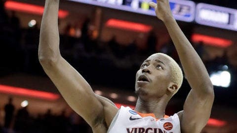 <p>               In this March 30, 2019, photo, Virginia's Mamadi Diakite (25) shoots during the first half of the men's NCAA Tournament college basketball South Regional final game against Purdue in Louisville, Ky. Diakite was a huge part of the win, but he's still driven by The Loss. The 6-foot-9 redshirt senior says he will never forget, or cease to be driven by, Virginia's loss to UMBC as the first No. 1 seed in NCAA Tournament history to lose to a No. 16 seed. The defending national champions are young this season, but Diakite says they have some surprises in store. (AP Photo/Michael Conroy, File)             </p>