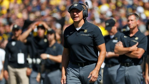 <p>               FILE - In this Sept. 7, 2019, file photo, Army coach Jeff Monken watches during the first half of the team's NCAA college football game against Michigan in Ann Arbor, Mich. Army faces VMI on Saturday, Monken says he never gets too emotional on Senior Day. This time might be different. In his six seasons at West Point, Monken has transformed the Black Knights from an afterthought into a team to be reckoned with, and this senior class of 30 has been an integral part of that transformation. (AP Photo/Paul Sancya, File)             </p>
