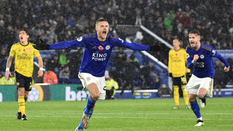 Vardy scores as Leicester beats Arsenal 2-0 in EPL