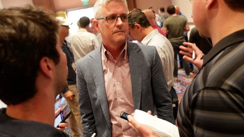 <p>               Houston Astros general manager Jeff Luhnow speaks during a media availability during the Major League Baseball general managers annual meetings Tuesday, Nov. 12, 2019, in Scottsdale, Ariz. (AP Photo/Matt York)             </p>