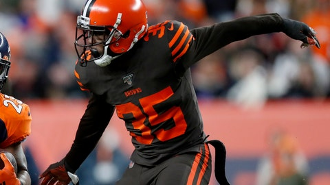 """<p>               Cleveland Browns defensive back Jermaine Whitehead (35) runs a play against the Denver Broncos during the second half of NFL football game, Sunday, Nov. 3, 2019, in Denver. Whitehead has been released following his disturbing social media rant after a loss in Denver. The Browns announced the move Monday, Nov. 4, 2019, hours after rebuking Whitehead for """"totally unacceptable and highly inappropriate behavior"""" following a 24-19 loss to the Broncos on Sunday. (AP Photo/David Zalubowski)             </p>"""
