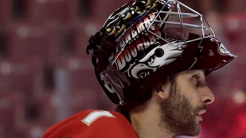 <p>               In this Feb. 14, 2019 file photo Florida Panthers goaltender Roberto Luongo appears before an NHL hockey game in Sunrise, Fla. Luongo is back with the Panthers, this time in a front-office role. The newly retired goaltender has agreed to become a special advisor to Panthers general manager Dale Tallon, a move that has been in the works for some time. (AP Photo/Brynn Anderson, file)             </p>