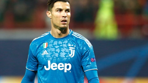 <p>               Juventus' Cristiano Ronaldo during the Champions League Group D soccer match between Lokomotiv Moscow and Juventus at the Lokomotiv Stadium in Moscow, Russia, Wednesday, Nov. 6, 2019. (AP Photo/Alexander Zemlianichenko)             </p>