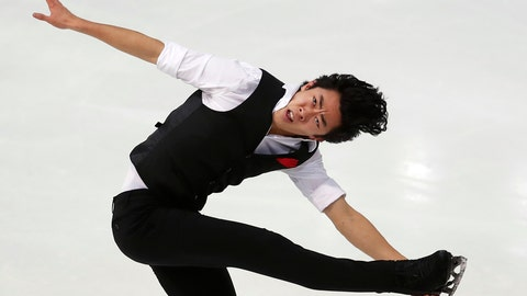 <p>               US' Nathan Chen competes in the Men Short Program during the ISU figure skating France's Trophy, in Grenoble, French Alps, France, Friday, Nov. 1, 2019. (AP Photo/Francois Mori)             </p>