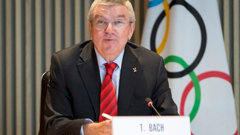 <p>               FILE - In this Oct. 2, 2019, file photo, International Olympic Committee president Thomas Bach speaks at the opening of the executive board meeting of the IOC at the Olympic House in Lausanne, Switzerland. The incoming leader of the World Anti-Doping Agency asked for more money. The International Olympic Committee said `yes.' IOC president Thomas Bach pledged $10 million to fight doping in sports, half of which would go toward storing samples from pre-Olympics testing for 10 years and the other half toward investigations and research. (Laurent Gillieron/Keystone via AP, File)             </p>