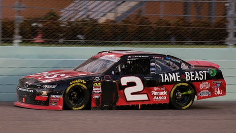 <p>               Tyler Reddick leads during the NASCAR Xfinity Series auto race on Saturday, Nov. 16, 2019, at Homestead-Miami Speedway in Homestead, Fla. (AP Photo/Terry Renna)             </p>