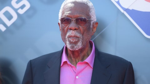 <p>               FILE - In this June 25, 2018, file photo, Bill Russell arrives at the NBA Awards at the Barker Hangar in Santa Monica, Calif. Russell says he is finally ready to be a Hall of Famer. The 11-time NBA champion, five-time MVP, Olympic gold medalist and two-time NCAA champ said on Twitter on Friday, Nov. 15, 2019, that he was presented with his Hall of Fame ring in a private ceremony that comes three decades after he was first selected for the shrine at Springfield, Mass. (Photo by Richard Shotwell/Invision/AP, File)             </p>