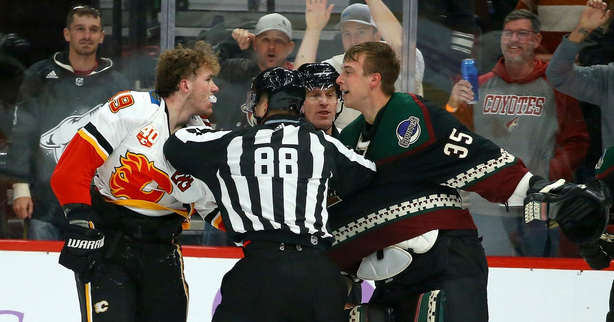 Coyotes G Kuemper fights Tkachuk, shuts out Flames | FOX Sports