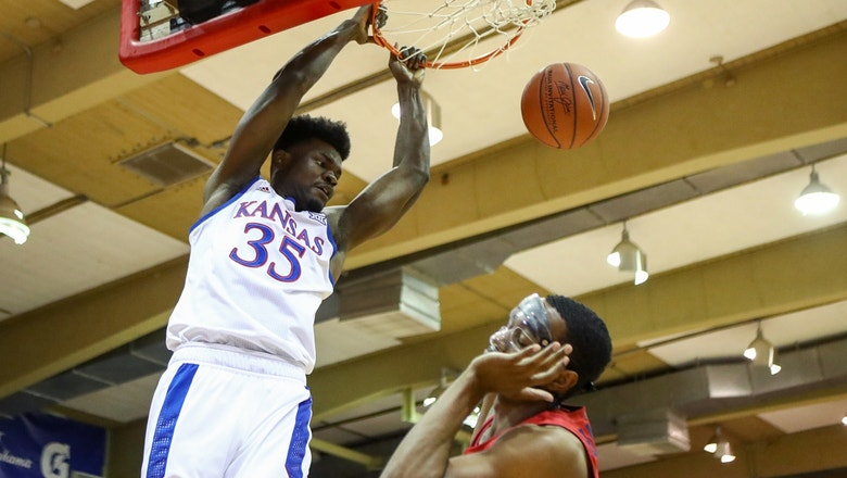 No. 4 Kansas holds off Dayton in overtime to win Maui Invitational