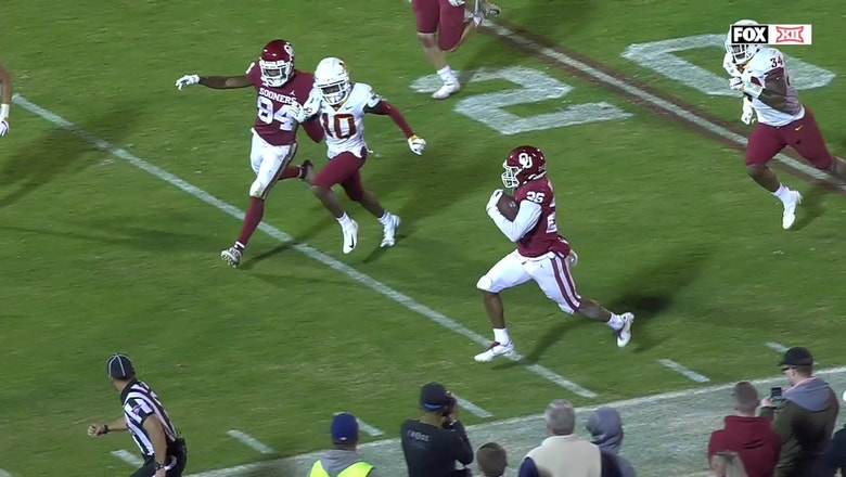 Kennedy Brooks springs 48-yard touchdown run to put Oklahoma up 42-21 on Iowa State