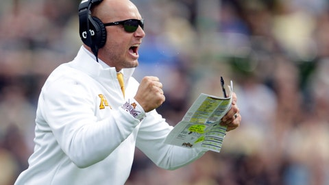 <p>               FILE - In this Sept. 28, 2019, file photo, Minnesota head coach P.J. Fleck celebrates a touchdown during the first half of an NCAA college football game against Purdue in West Lafayette, Ind. Fleck believes keeping an open line of communication is the key to allowing him to redshirt a player without resistance, and avoid having an athlete make the decision himself. (AP Photo/Michael Conroy, File)             </p>