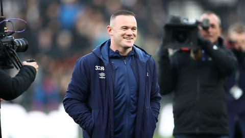 <p>               Derby County assistant coach Wayne Rooney looks on during the English Championship soccer match between Derby County and Queen's Park Rangers at Pride Park, Derby, England, Saturday, Dec. 30, 2019. (Tim Goode/PA via AP)             </p>