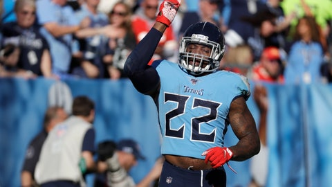 <p>               Tennessee Titans running back Derrick Henry celebrates after scoring a touchdown on a 68-yard run against the Kansas City Chiefs in the second half of an NFL football game Sunday, Nov. 10, 2019, in Nashville, Tenn. (AP Photo/James Kenney)             </p>