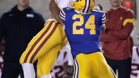 <p>               Southern California's Michael Pittman Jr. (6) can't make the catch as California's Camryn Bynum (24) defends during the first quarter of an NCAA college football game Saturday, Nov. 16, 2019, in Berkeley, Calif. (AP Photo/Ben Margot)             </p>