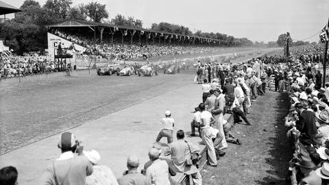 <p>               FILE - In this Tuesday, May 30, 1950, file photo, thirty-three racers hit the starting line to begin the Memorial Day 500-mile race at the Indianapolis Motor Speedway Track in Indianapolis, Ind. Indianapolis Motor Speedway and the IndyCar Series were sold to Penske Entertainment Corp. in a stunning move Monday, Nov. 4, 2019, that relinquishes control of the iconic speedway from the Hulman family after 74 years. (AP Photo/File)             </p>