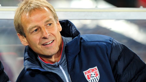 <p>               FILE - In this Tuesday, Nov. 19, 2013 file photo, US national soccer team coach Juergen Klinsmann watch the friendly soccer match between Austria and United States in Vienna, Austria. Klinsmann has been named the new coach of soccer club Hertha BSC Berlin after Ante Covic was fired with the team 15th in the German Bundesliga. (AP Photo/Hans Punz)             </p>
