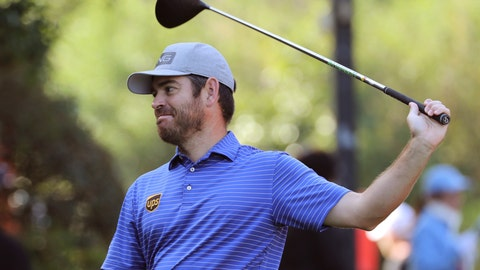 <p>               Louis Oosthuizen of South Africa prepares to tee off during the HSBC Champions golf tournament at the Sheshan International Golf Club in Shanghai on Friday, Nov. 1, 2019. (AP Photo/Ng Han Guan)             </p>
