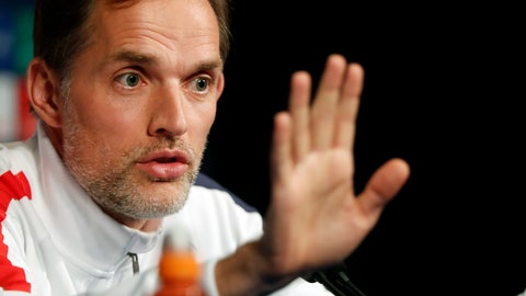 <p>               PSG's head coach Thomas Tuchel gives a press conference at the Parc des Princes stadium, in Paris, Tuesday, Nov. 5, 2019. Paris Saint Germain will play against Bruges in a Champions League soccer match Group A on wednesday. (AP Photo/Thibault Camus)             </p>