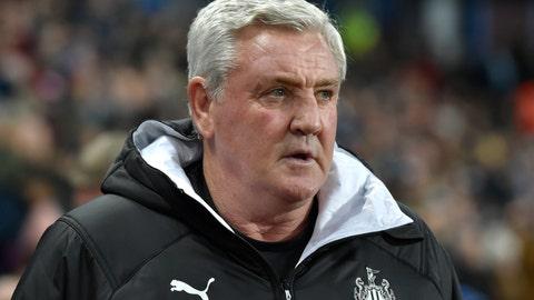 <p>               Newcastle's head coach Steve Bruce waits for the start of the English Premier League soccer match between Aston Villa and Newcastle United at Villa Park in Birmingham, England, Monday, Nov. 25, 2019. (AP Photo/Rui Vieira)             </p>