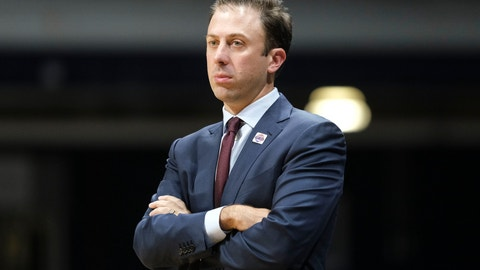 <p>               Minnesota head coach Richard Pitino watches from the sideline as his team played Butler in the second half of an NCAA college basketball game in Indianapolis, Tuesday, Nov. 12, 2019. Butler won 64-56. (AP Photo/AJ Mast)             </p>