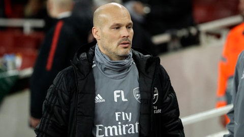 <p>               In this photo taken on Thursday, Nov. 28, 2019, Arsenal's assistant manager Freddie Ljungberg walks to take his seat before the start of the Europa League Group F soccer match between Arsenal and Eintracht Frankfurt at the Emirates Stadium, in London. Unai Emery was fired by Arsenal on Friday, Nov. 29 18 months after succeeding Arsene Wenger as manager of the Premier League club. Freddie Ljungberg has been put in temporary charge, promoting the former player from his assistant's position. (AP Photo/Matt Dunham)             </p>