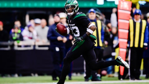 <p>               New York Jets strong safety Jamal Adams (33) returns a fumble for a touchdown during the second half of an NFL football game against the New York Giants, Sunday, Nov. 10, 2019, in East Rutherford, N.J. (AP Photo/Steven Ryan)             </p>