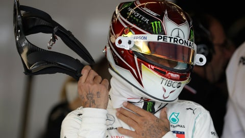 <p>               Mercedes driver Lewis Hamilton, of Britain, prepares to drive during the second practice session for the Formula One U.S. Grand Prix auto race at the Circuit of the Americas, Friday, Nov. 1, 2019, in Austin, Texas. (AP Photo/Darron Cummings)             </p>