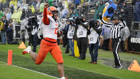 <p>               Illinois running back Reggie Corbin (2) reacts after running for a touchdown during the second half of an NCAA college football game against Purdue, Saturday, Oct. 26, 2019, in West Lafayette, Ind. (AP Photo/Darron Cummings)             </p>