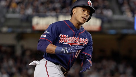 <p>               FILE - In this Oct. 4, 2019, file photo, Minnesota Twins' Jorge Polanco (11) reacts as he rounds the bases after hitting a solo home run against the New York Yankees during the first inning of Game 1 of an American League Division Series baseball game in New York. Polanco is rehabilitating from arthroscopic surgery on his right ankle. He's expected to fully recover in plenty of time for spring training, the team announced Wednesday, Nov. 27, 2019. (AP Photo/Frank Franklin II, File)             </p>