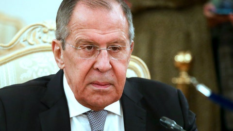 <p>               Russian Foreign Minister Sergey Lavrov listens to Iceland's Minister for Foreign Affairs Gudlaugur Thor Thordarson during their meeting in Moscow, Russia, Tuesday, Nov. 26, 2019. Lavrov cast the WADA's compliance review committee's proposal of a four-year ban on hosting major events in Russia and a ban for the same period on flying the Russian flag at major competitions as part of Western efforts to sideline Russia by accusing it of misconduct in various spheres. (Russian Foreign Ministry Press Service via AP)             </p>