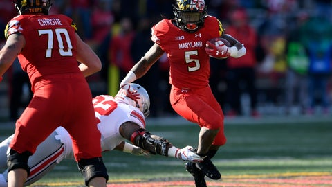 <p>               FILE - In this Nov. 17, 2018, file photo, Maryland running back Anthony McFarland (5) runs the ball against Ohio State defensive tackle Haskell Garrett (92) during the first half of an NCAA football game, in College Park, Md. One year ago, Maryland took Ohio State into overtime before a failed 2-point conversion resulted in a 52-51 defeat. McFarland Jr. enjoyed the finest day of his career in that back-and-forth duel with the then-No.9 Buckeyes. In the rematch Saturday, the Terrapins are a 43-point underdog. (AP Photo/Nick Wass, File)             </p>