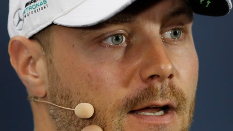 <p>               Mercedes driver Valtteri Bottas, of Finland, speaks during a press conference ahead of Sunday's Formula One Brazilian Grand Prix, at the Interlagos racetrack in Sao Paulo, Brazil, Thursday, Nov. 14, 2019. (AP Photo/Nelson Antoine)             </p>