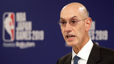 <p>               FILE - In this Oct. 8, 2019, file photo, NBA Commissioner Adam Silver speaks at a news conference before an NBA preseason basketball game between the Houston Rockets and the Toronto Raptors in Saitama, Japan. A person familiar with the negotiations says the NBA is working with the players' union and its teams on a plan to shorten the regular season, possibly to 78 games.  (AP Photo/Jae C. Hong, File)             </p>