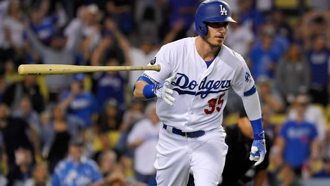 <p>               FILE - In this Sept. 18, 2019, file photo, Los Angeles Dodgers' Cody Bellinger tosses his bat as he runs to first after hitting a solo home run during the eighth inning of the team's baseball game against the Tampa Bay Rays in Los Angeles. the National League MVP figures to come down Christian Yelich of the Brewers and Bellinger, with Anthony Rendon of the Nationals possibly in the mix as well. (AP Photo/Mark J. Terrill, File)             </p>