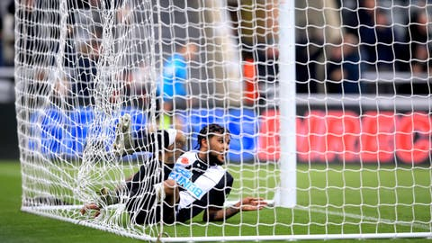 <p>               Newcastle United's DeAndre Yedlin scores his side's first goal of the game, during the English Premier League soccer match between Newcastle and Bournemouth, at St James' Park, in Newcastle, England, Saturday Nov. 9, 2019. (Owen Humphreys/PA via AP)             </p>