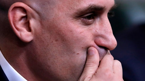<p>               FILE - In this Wednesday, June 13, 2018 file photo, Spanish football president Luis Rubiales gestures during a press conference at the 2018 soccer World Cup in Krasnodar, Russia. A Spanish court is going to decide Thursday, Nov. 14, 2019 whether the Spanish league will be allowed to play the Villarreal-Atletico Madrid game in the United States next month. The league accuses the Spanish soccer federation of unfair competition for not giving its approval for the game scheduled for Dec. 6. The dispute is the latest between league president Javier Tebas and federation president Luis Rubiales, two outspoken figures in Spanish soccer who have been at odds over a series of issues. (AP Photo/Manu Fernandez, file)             </p>