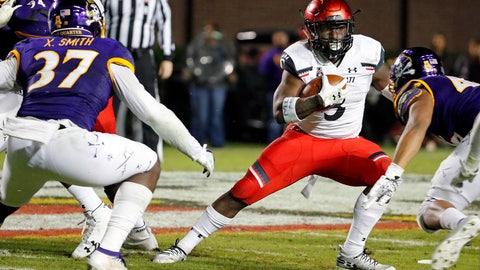 <p>               Cincinnati's Michael Warren II (3) avoids a tackle by East Carolina's Xavier Smith (37) during the second half of an NCAA college football game in Greenville, N.C., Saturday, Nov. 2, 2019. (AP Photo/Karl B DeBlaker)             </p>